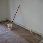 Dicke einer Wand im Haus